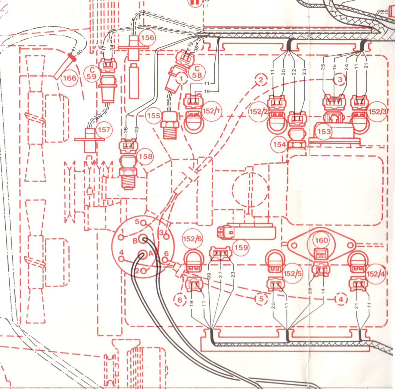 Maserati V6 correct distributor sequence. Please click on this image for a  broader picture!